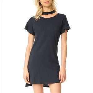 LNA Choker Tee Dress Gray